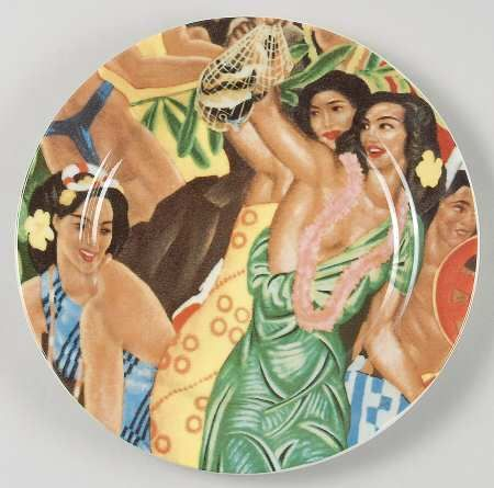 Homer Laughlin Hawaiianaware Luncheon Plate