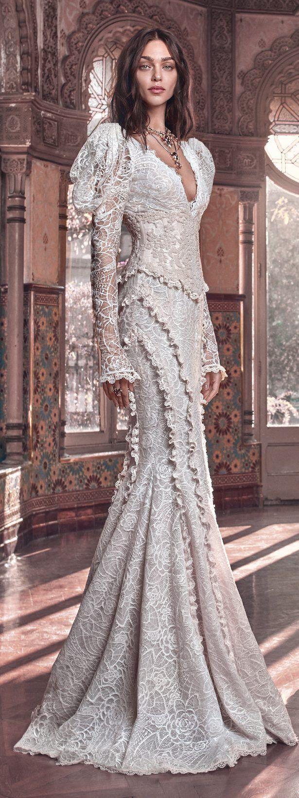 Sheath Wedding Dress : Picture Description Galia Lahav Wedding Dress Collection 2018- Victorian Affinity - #Sheath https://weddinglande.com/dresses/sheath/sheath-wedding-dress-galia-lahav-wedding-dress-collection-2018-victorian-affinity/