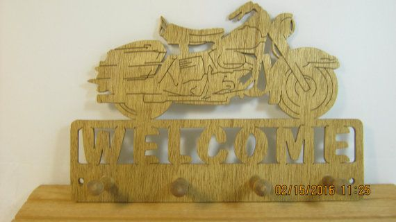 Scie à chantourner de bienvenue porte clés par mikeswoodworking
