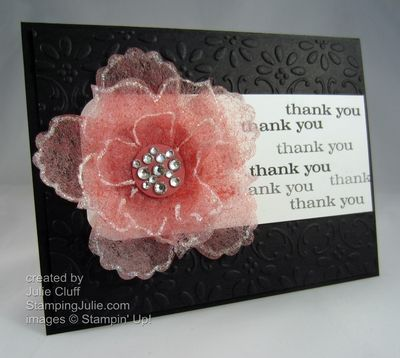 Pretty Dryer Sheet Fun Flower by juliestamps - Cards and Paper Crafts at Splitcoaststampers