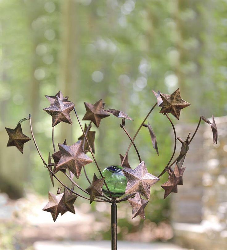 Glowing Starry Night Metal Wind Spinner. Wind SpinnersGarden SculpturesWind  ...