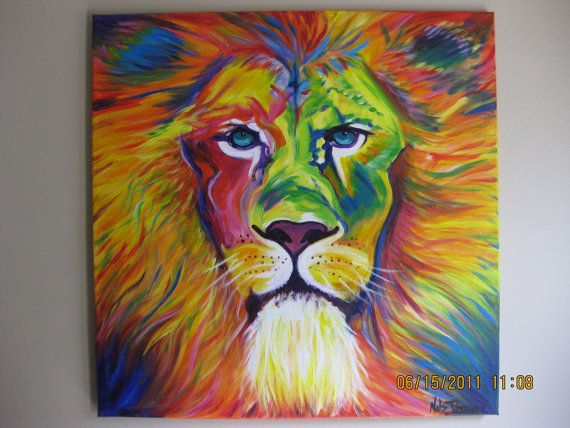 Original Lion Painting by brittanels on Etsy
