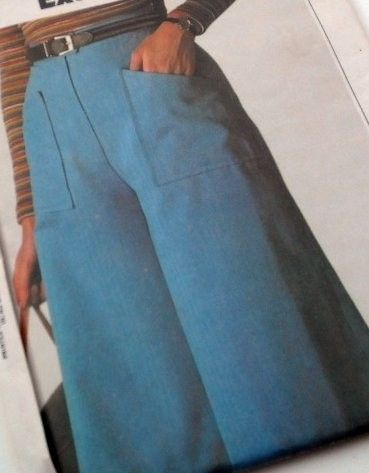 Vintage 70s Misses Culottes Gaucho Pants, even then I thought they were weird, but I still wore them.