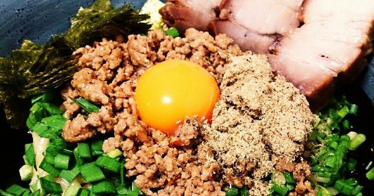 某有名店の味~台湾まぜそば~ by ゆか+° [クックパッド] 簡単おいしいみんなのレシピが244万品