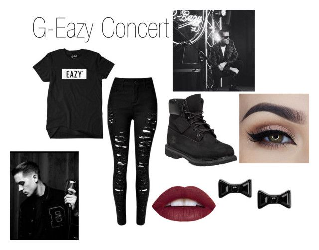 """""""g-eazy concert"""" by mackthehack on Polyvore featuring Timberland, Marc by Marc Jacobs, women's clothing, women, female, woman, misses and juniors"""