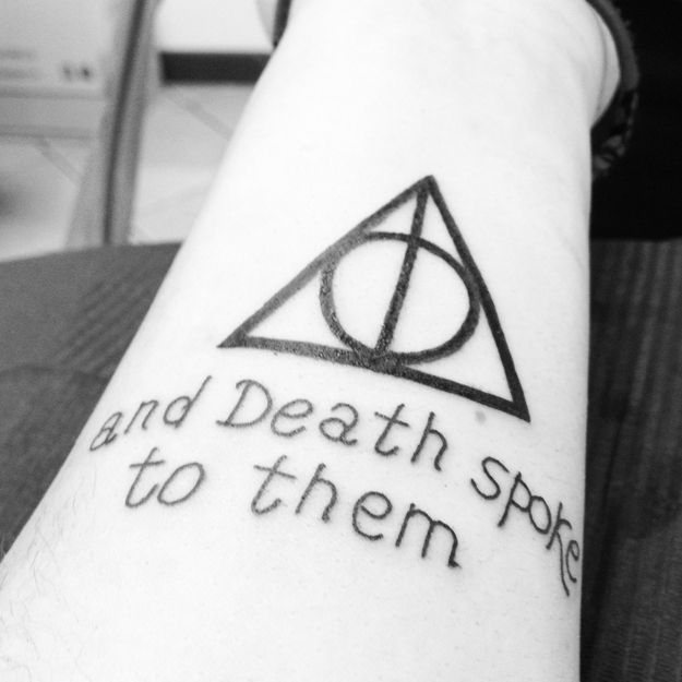 20 Awesome Minimalist Harry Potter Tattoos. utterly amazing and i can't wait to get one!