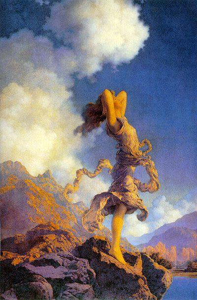 "Maxfield Parrish's ""Ecstasy"": Favorite Artists, Inspiration, Ecstasy, Maxfield Parrish, Maxfieldparrish, Illustration, Volcanoes, Paintings, Maxfield Parish"