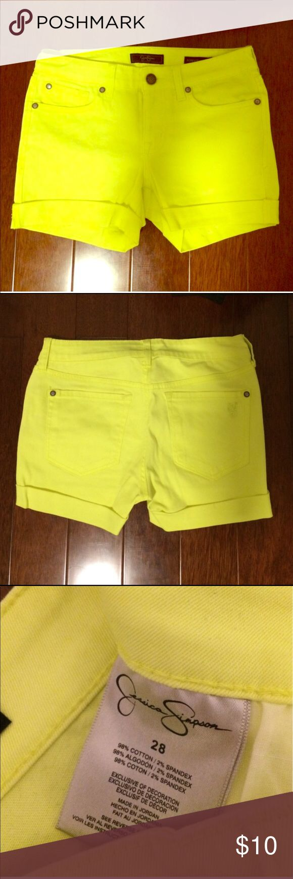 Jessica Simpson Neon Shorts Reposh. Bought for vacation, but ended up not wearing. Original owner only wore once. EUC. Jessica Simpson Shorts