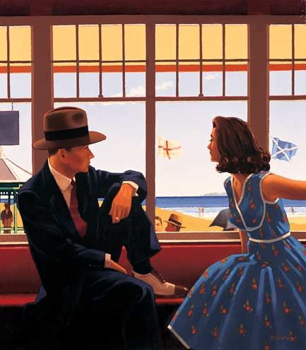 Jack Vettriano  Edith and the Kingpin  Oil on canvas  32 x 28 inches