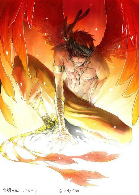Fire Bird/Demon that is able to change/disguise itself in human form