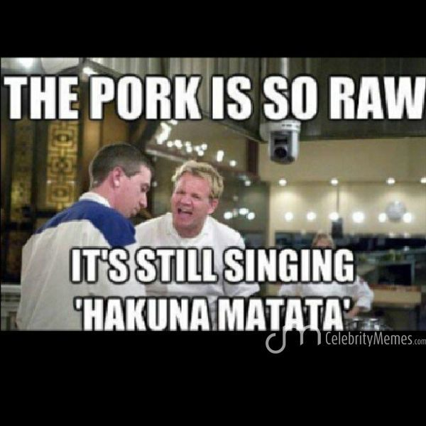 Double tap ! #chef #Ramsay #angry #hakuna #matata #the #pork #is #so #raw #lol #funnymemes #funny #memes #celebritymemes #celebrities #lion #king #likerup