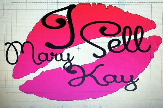 I Sell Mary Kay Hot Pink Lips Vinyl Car Decal Direct Sales