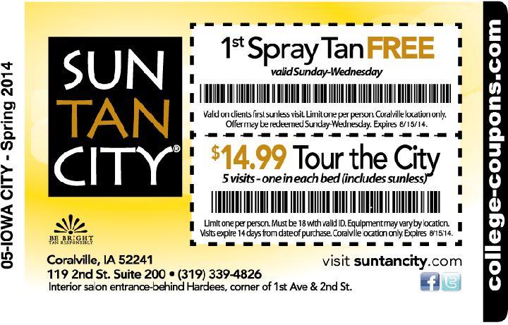 $10 off Spray Tan