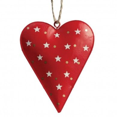 Red Starry Heart Decoration