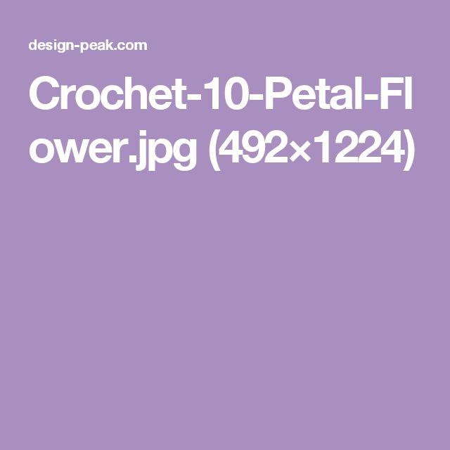 Crochet-10-Petal-Flower.jpg (492×1224)
