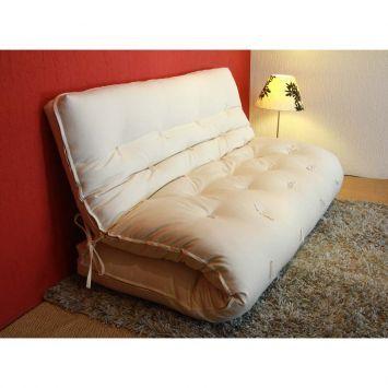 Sofa-Cama Futon Casal Bege Kotton