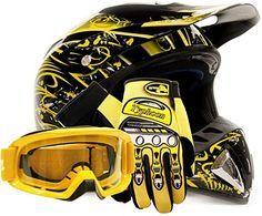http://motorcyclespareparts.net/adult-offroad-helmet-goggles-gloves-gear-combo-dot-motocross-atv-dirt-bike-mx-black-yellow-splatter-large/Adult Offroad Helmet Goggles Gloves Gear Combo DOT Motocross ATV Dirt Bike MX Black Yellow Splatter ( Large )
