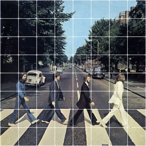 IXXI wall decoration made with maybe the most recognizable album cover of all time. This Beatles, Abbey Road IXXI will cost $151.70 (own image, 160 x 160 cm). #ixxi #ixxidesign
