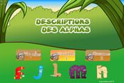 Alphas Grandes Sections  maternelle: jeu sur la description des alphas.(lettres, lecture...)
