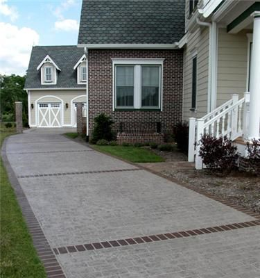 concrete driveways artisticrete llc noblesville in nice driveway pattern