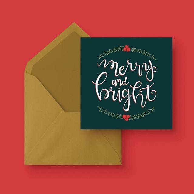 Merry Bright Christmas Card Free Greetings Island Diy Christmas Cards Printable Invitations Free Greeting Cards