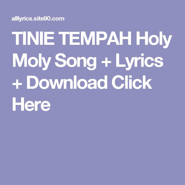 TINIE TEMPAH Holy Moly Song + Lyrics + Download  Click Here
