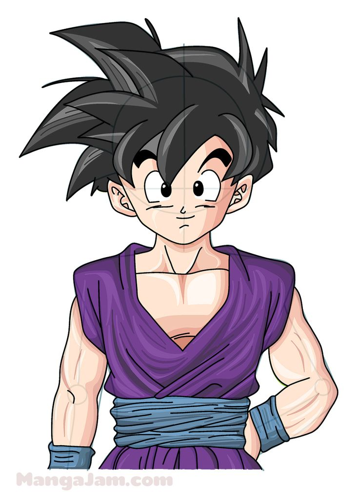 Let's learn how to draw Gohan from Dragon Ball today! Gohan (? ??, Son Gohan) is the elder son of the series' primary protagonist Goku and his wife Chi-Chi, the older brother of Goten, the husband of Videl and father to Pan. (from dragonball....