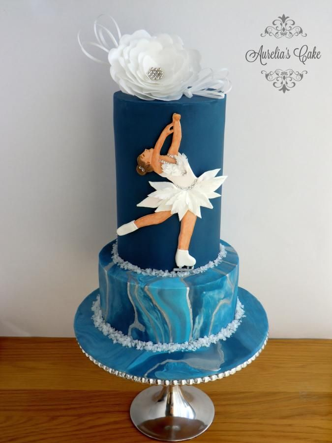 Figure Skating - Sport Cakes for Peace Collaboration by Aurelia's Cake