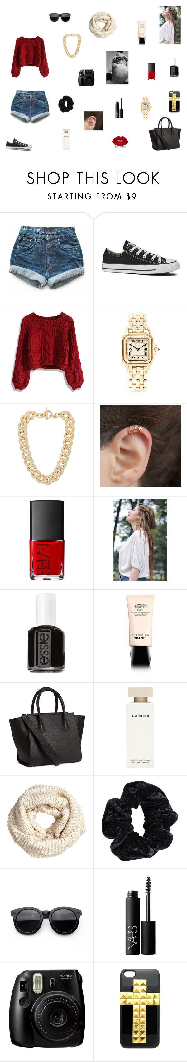 """Bbhjbjhhbugbugb"" by camila-aljustrel-2002 ❤ liked on Polyvore featuring Levi's, Converse, Chicwish, Michael Kors, NARS Cosmetics, Lime Crime, Essie, Chanel, H&M and Narciso Rodriguez"