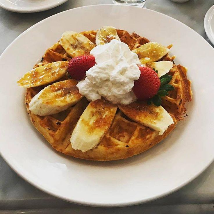 Have you tried a Criollo Restaurant Vanilla Bean Waffle with Banana Brulee?