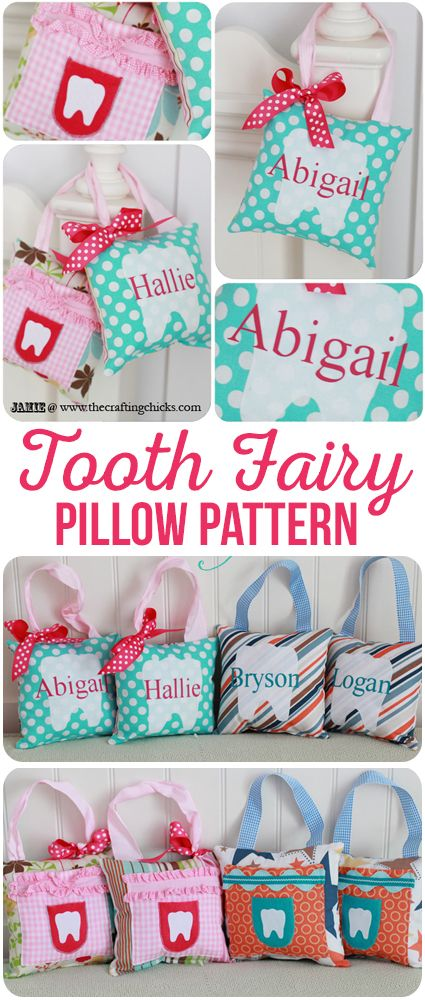 Tooth Fairy Pillow Pattern - Keep your the lost tooth safe and in an easy location for the Tooth Fairy to find.  via @craftingchicks