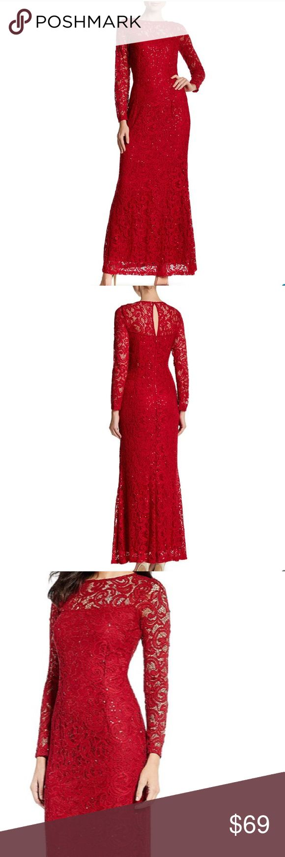 New Arrival ✨Red Marina floor length formal🌹 $100 off retail 👠💋💄This dress has ⭐️⭐️⭐️⭐️⭐️ reviews. Selling at a major department store this week for $149. I have several Marina lace dresses and they fit well and are very complimentary to your curves. Also comfortable. No trades. MARINA Dresses