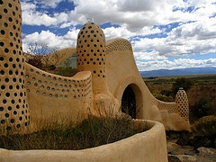 Taos visitors center -- Alan and I actually stayed in one of the earthships on this parcel of land, fabulous!