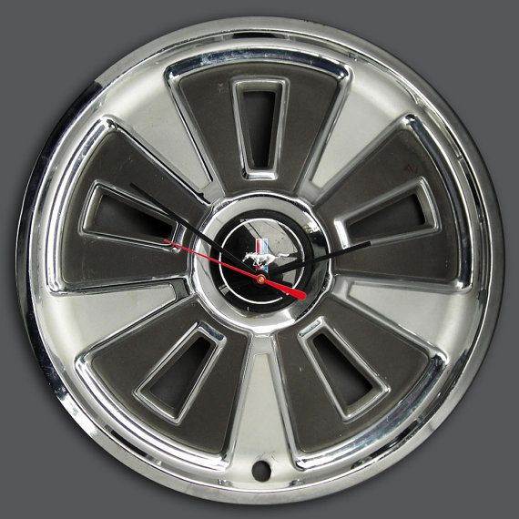 1966 Ford Mustang Hubcap Wall Clock  Retro Pony Car by StarlingInk, $59.99