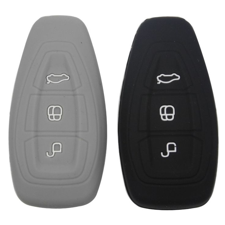 Silicone car smart key cover remote bag fit for Ford Focus 3 MK3 ST RS Ecosport Kuga New fiesta 3 Buttons smart key with logo