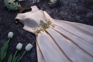 Elegant Womens New Bridesmaid Gown Mini Wedding Dress Homecoming Prom Short Gown