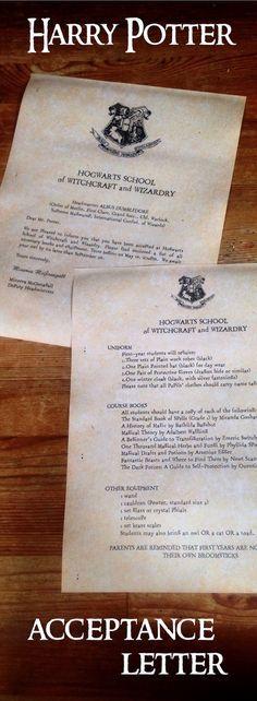 Best 25+ Hogwarts acceptance letter ideas on Pinterest Hogwarts - hogwarts acceptance letter