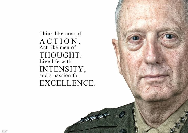 """General James """"Mad Dog"""" Mattis. President Trump's choice for the United States of America."""