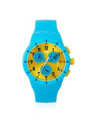 Swatch Men's SUSS400 Blue/Yellow Silicone Watch