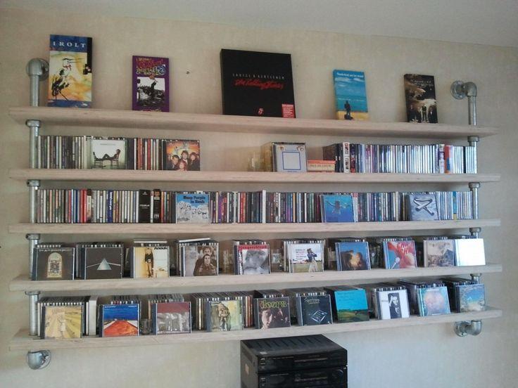 GISS design - cd rek, cd-rack, steigerbuis, steigerhout