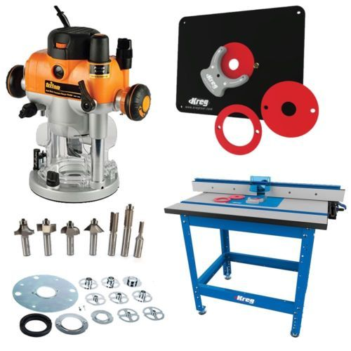 Kreg Router Table w/ TRA001 Triton Router Insert PlateTemplate Guide