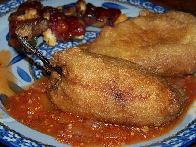 Authentic Chiles Rellenos with Salsa Rojo