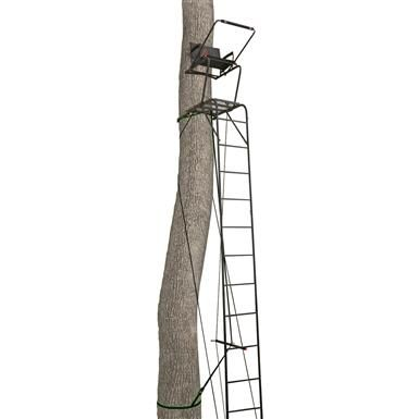 Primal Tree Stands 22' Mac Daddy Deluxe Ladder Tree Stand With Jaw And Truss Stabilizer System