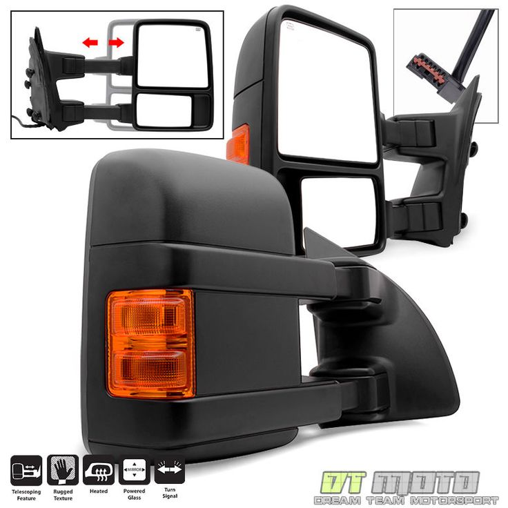 L+R 1999-2007 Ford F250/F350 Super Duty Power+Heated+Signal Towing Side Mirrors #DTMOTO