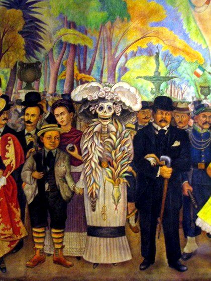 Diego Rivera (Dream of Sunday Afternoon in Alameda Park, detalhe ) To Review And Order A Comprehensive Selection Of Diego Rivera Prints And Posters Please Click On The Following Link.