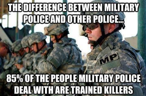 I have so much respect for Military Police! It takes a lot of work to do what they do!