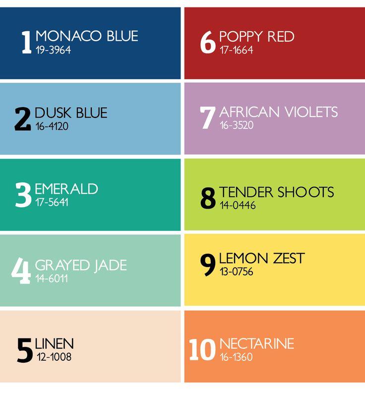 Pantone I Migliori Colori 2013