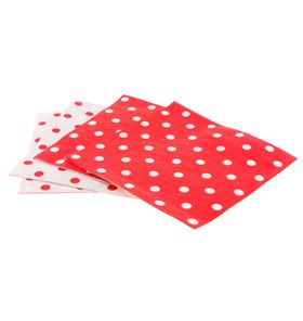 20 Sambellina Polka-dot Red Reversible Napkins - Included in our Standard $99.00 and Deluxe $159 packs - Strawberry-fizz.com.au