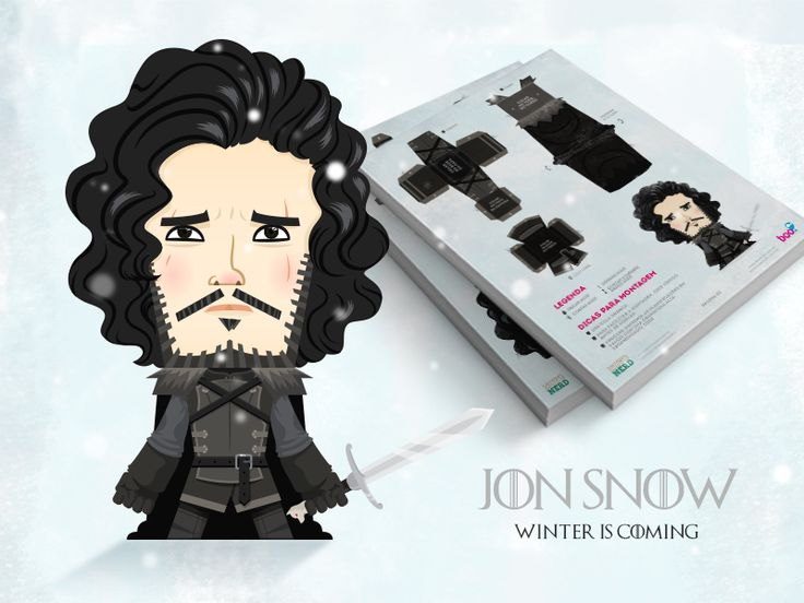 Jon Snow Papertoy by Anthony Mendes