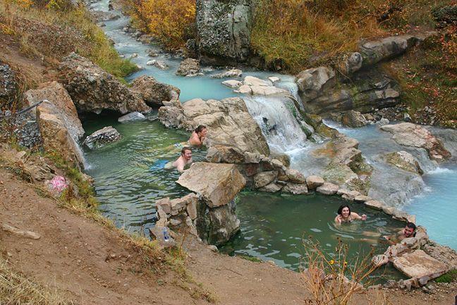 Diamond Fork hot springs - Utah